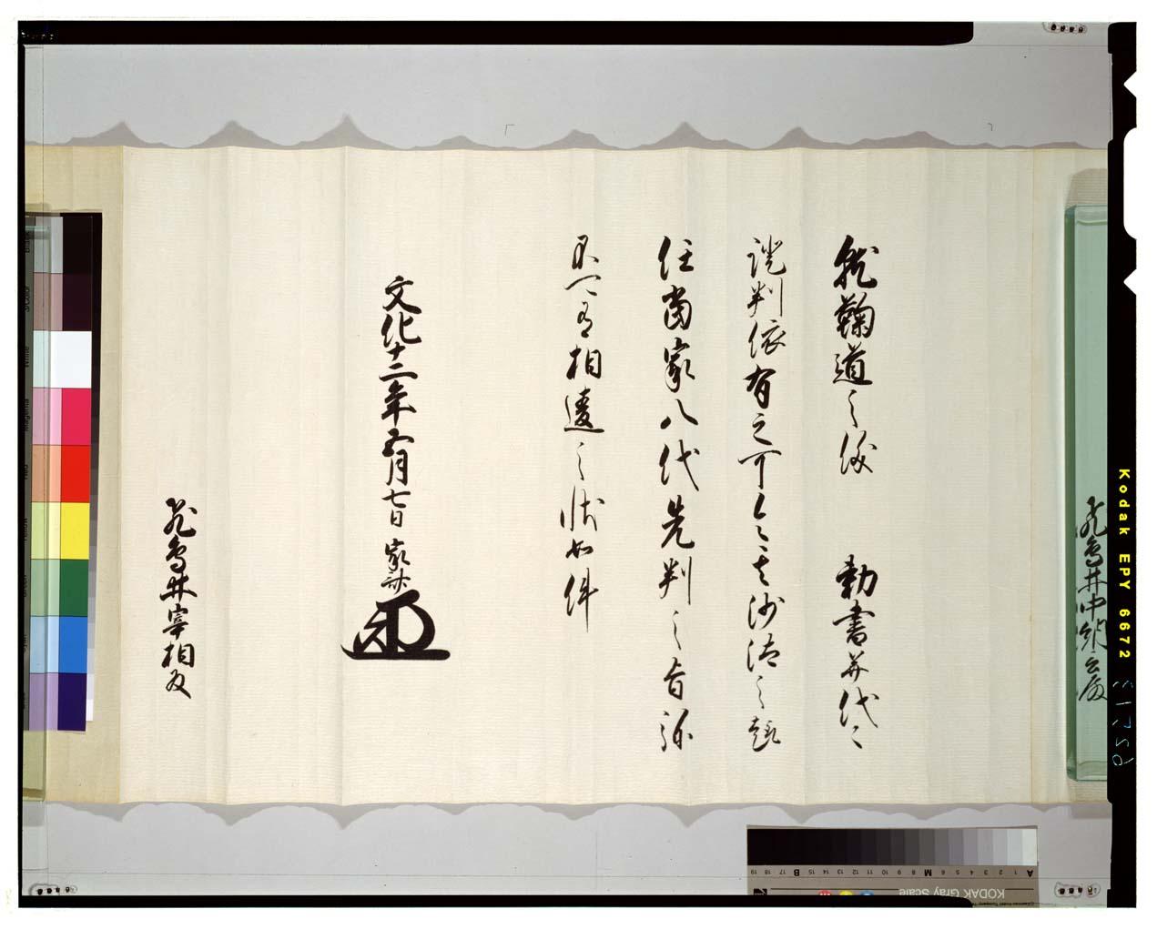 C0062513 飛鳥井家蹴鞠免許状 - 東京国立博物館 画像検索